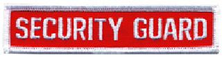 "Security Guard - White/Bright Red - 4-1/2"" X 1""-Hero's Pride"