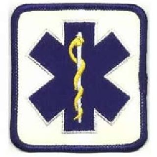 "Star Of Life - On Reflective White - 2-7/8 X 3-1/8""-"