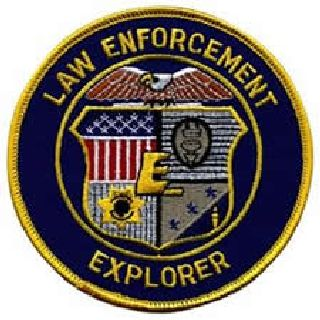 Law Enforcement Explorer - On Blue Twill-