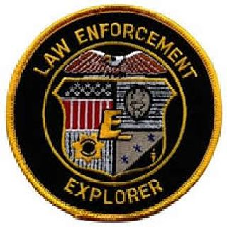 Law Enforcement Explorer - On Black Twill