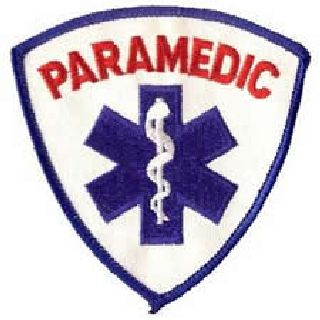 Paramedic (In Red) - 3-9/16 X 3-9/16""