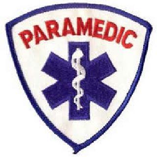 "Paramedic (In Red) - 3-9/16 X 3-9/16""-Hero's Pride"