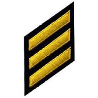 Hashmarks - Med Gold On Navy-Hero's Pride