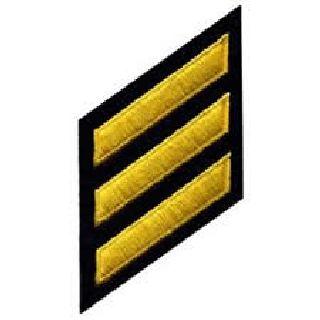 Hashmarks - Med Gold On Navy-