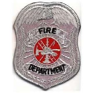 "Fire Department Badge Patch- 2-1/2 X 3-1/2""-Hero's Pride"