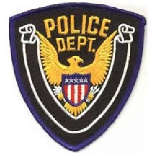 "Police Dept. 4 X 4-3/8""-"