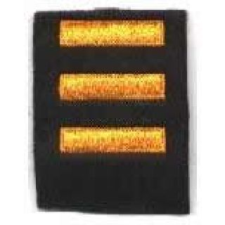 Service Bars - Dark Gold On Black Felt - 1 X 1/4""
