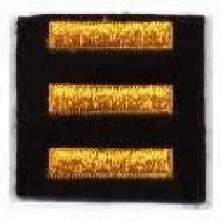Service Bars - Summer Gold On Black Felt - 1 X 1/4""