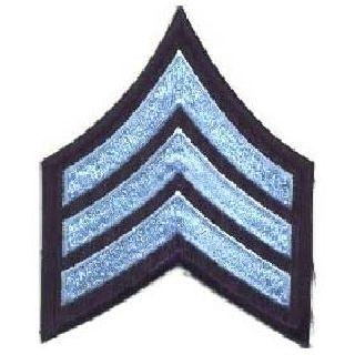 """Pr - Sgt - 3"""" Wide - Lt Blue On Navy Blue-Hero's Pride"""