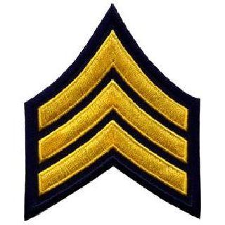 """Pr - Sgt - 3"""" Wide - Med Gold On Navy Blue-Hero's Pride"""