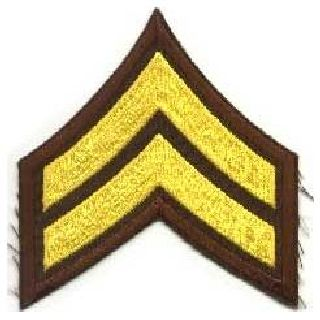 "Pr - Cpl - 3"" Wide - Med Gold On Brown-Hero's Pride"