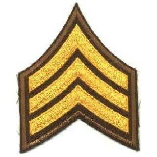 """Pr - Sgt - 3"""" Wide - Dk Gold On Brown-Hero's Pride"""