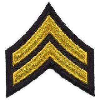 "Pr - Cpl - 3"" Wide - Med Gold On Midnight Navy-Hero's Pride"