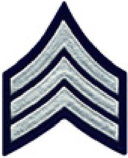 """Pr - Sgt - 3"""" Wide - White On Midnight Navy-Hero's Pride"""