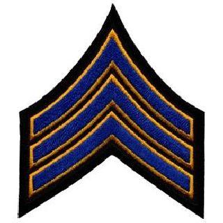 "Pr - Sgt - 3-1/2"" - Royal w/ Dk Gold Edge On Blk-"
