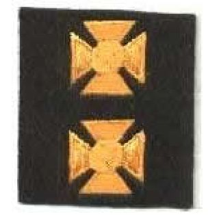 "Maltese Crosses - Continuous - Dk Gold On Black Felt - 3/4""-"