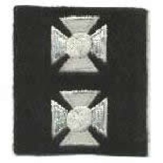 "Maltese Crosses - Continuous - Silver On Black Felt - 3/4""-"