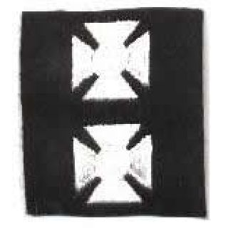 Maltese Crosses - Continuous - White On Black Felt - 3/4""