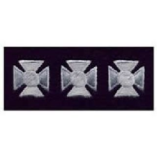 Maltese Crosses - Continuous - Silver On Dk Navy Felt - 3/4""