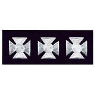 "Maltese Crosses - Continuous - White On Dk Navy Felt - 3/4""-"
