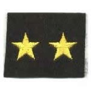 "Stars - Continuous - Med Gold On Black Felt - 5/8""-Hero's Pride"