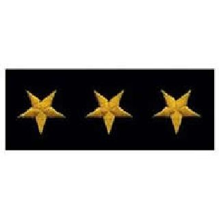Stars - Continuous - Dark Gold On Black Felt - 5/8""