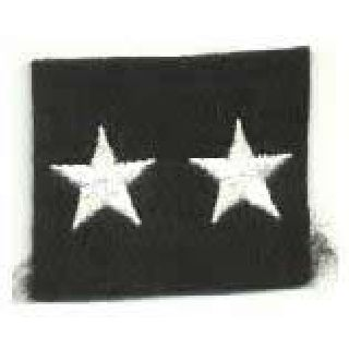 "Stars - Continuous - White On Black Felt - 5/8""-"