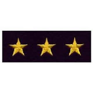 "Stars - Continuous - Med Gold On Dk Navy Felt - 5/8""-Hero's Pride"