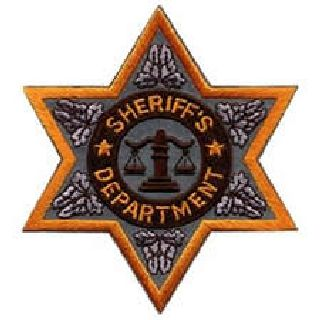"Sheriff Dept-Reflective-6 Pt Gold Star- 3-1/2 X 3-1/2""-"