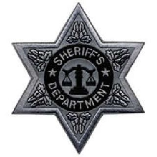 "Sheriff Dept-Reflective-6 Pt Silver Star- 3-1/2 X 3-1/2""-"