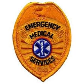 "Emergency Medical Services-Gold-2-1/2 X 3-1/2""-"