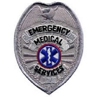 "Emergency Medical Services-Silver-2-1/2 X 3-1/2""-Hero's Pride"