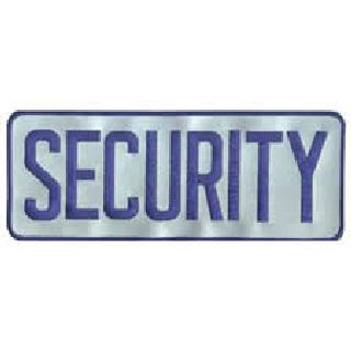 Security - Royal On Reflective Grey - Backpatch-