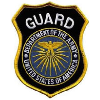Guard Dept. Of Army - 3-3/4 X 4-5/8 (100%)-