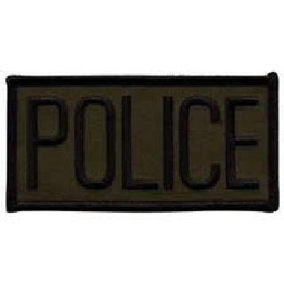 Police - Black On O.D. - Sew-On-Hero's Pride