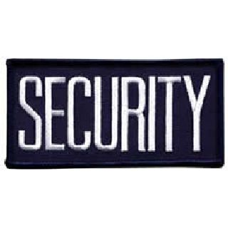 Security - White/Navy Blue - Sew-On-Hero's Pride