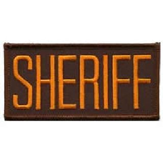 """Sheriff - Dk. Gold On Brown - 4 X 2"""" - Sew-On-"""