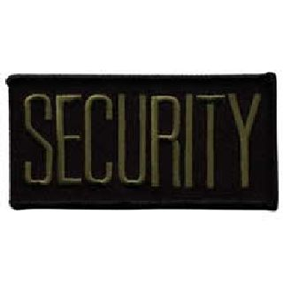 "Security - O.D. On Black - 4 X 2"" - Sew-On-"