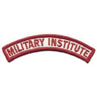 Military Institute - Red/White - 4-1/8 X 5/8-
