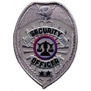 "Security Officer - Silver Badge - 2-1/2 X 3-1/2""-"