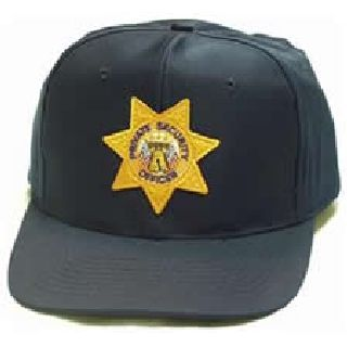 "Navy All Twill Cap w/Gold ""Priv Sec Off"" Star"