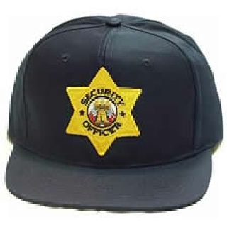 "Navy All Twill Cap w/Gold ""Sec Off"" Star-Hero's Pride"
