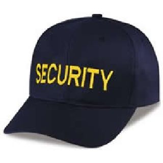 "Dark Navy Twill Cap Embr'd w/Med Gold ""Security""-"