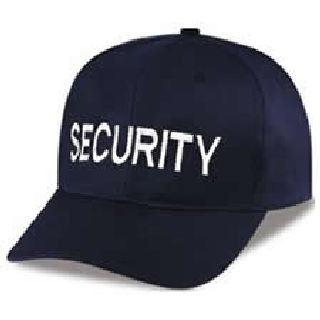 "Dark Navy Twill Cap Embr'd w/White ""Security""-"