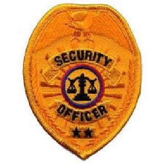 "Security Officer - Gold Badge - 2-1/2 X 3-1/2""-Hero's Pride"