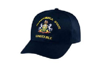 "Black Twill Cap Embr'd w/ ""Pennsylvania State Constable""-"