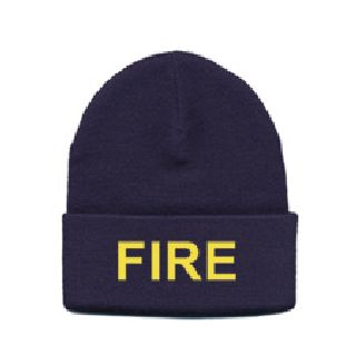 Medium Gold Lettering On Navy Watch Cap-Hero's Pride