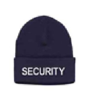 White Lettering On Navy Watch Cap-