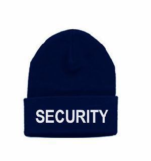 6886 White Lettering On Dark Navy Watch Cap-