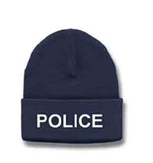 6889 White Lettering On Navy Watch Cap-